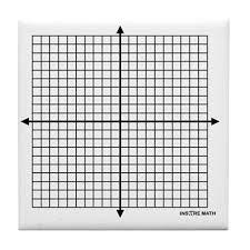 Four Quadrant Math Graph Paper Tile Coaster By Admin_cp3063797