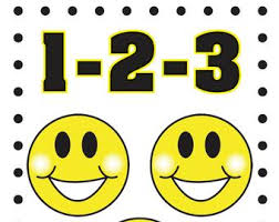 Smiley Face Behavior Chart Printable Counting Discipline Chart For Toddlers Smiley Faces Etsy