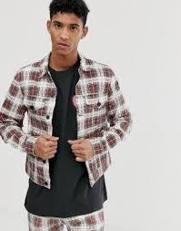 Мужские <b>джинсовые</b> куртки в клетку купить в интернет-магазине ...