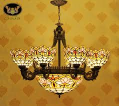 stained glass dining room chandeliers