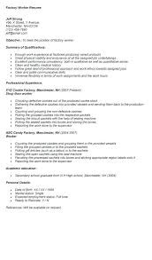 Factory Worker Job Description What Is A Production Resume Examples