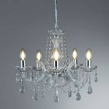 searchlight marie therese chrome 5 light chandelier with crystal drops 399 5