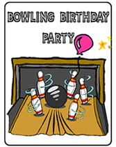 Bowling Birthday Party Printable Invitations
