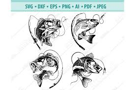 You can copy, modify, distribute and perform the work, even for commercial purposes, all. Bass Fishing Svg Fishing Svg Fishing Hooks Png Dxf Eps 413157 Svgs Design Bundles