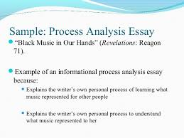 sample essays process analysis examples image 11 examples of process writing essays