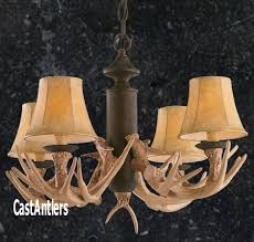 rustic cabin lighting antler chandelier 4 light reion throughout antler chandelier kit regarding property