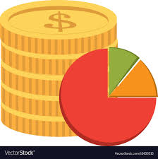 Coin And Pie Chart Icon