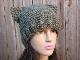 Cat Hat Crochet Pattern Classy CROCHET PATTERN Cat Hat Slouchy Hat Crochet Pattern PDFEasy