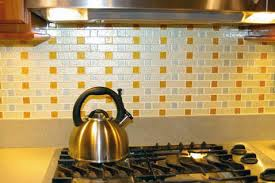 glass subway tile mosaic backsplash