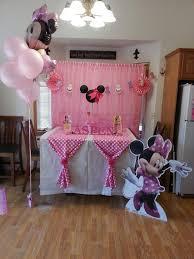 table set up minnie mouse birthday ideasbirthday