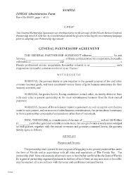 Sample Partnership Agreement Form Partnership Contract Template Free