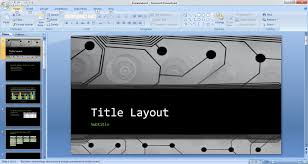 Powerpoint Circuit Theme Free Business Technology Powerpoint Template Free