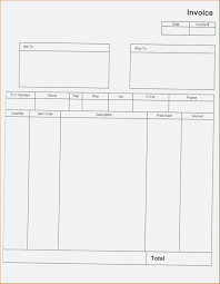 Balnk Invoice Template Us Neat 750px Blank Excel Download Doc