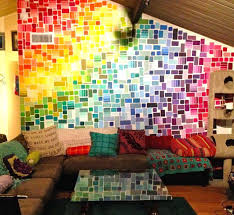 best paint chip wall ideas on paint sample wall within paint swatch paint swatch wall art