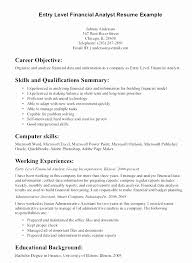 Good Objective Statements For Entry Level Resume Lovely Management Information Systems Entry Level Resume