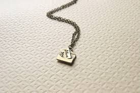 Love Letters New Love Letter Necklace I Love You Necklace Antique Brass Bridesmaid