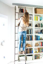 large size of library bookshelf ladder home dzine diy diy library bookcase with ladder library bookcase