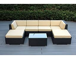 patio couch set genuine ohana outdoor patio wicker furniture pc all weather gorgeous couch set with beige cushion
