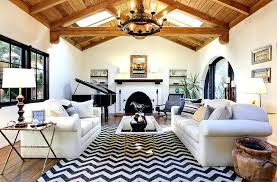 black and white striped area rug stylish chevron living room ideas white leather arms sofa sets