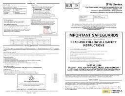 dynamo instruction sheet manualzz Dual Lite Emergency Ballast Wiring Diagram Philips Advance Ballast Wiring