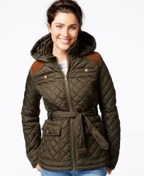Krush Hooded Belted Quilted Jacket - Coats - Women - Macy's & Krush Hooded Belted Quilted Jacket Adamdwight.com