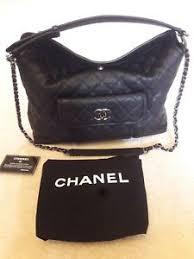Chanel Quilted Black Leather Handbag | eBay & Image is loading Chanel-Quilted-Black-Leather-Handbag Adamdwight.com