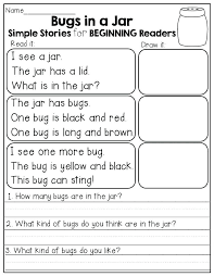 Reading Comprehension Worksheet Grade Worksheets Simple Present Pdf ...