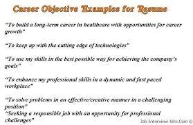 Sample Objective For Resume Jmckell Com