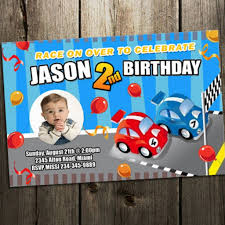 Car Birthday Invitations Race Car Birthday Invitation Party Invites Photo Cards Printable Custom 1st First Digital File Baby Shower
