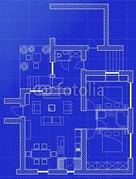 White Floor Plan Sketch Of A House On Graph Paper 78565154 Canvas