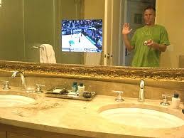 tv in mirror bathroom in mirror bathroom bathroom mirror television systems integrated solutions bathroom mirror magic tv in mirror bathroom