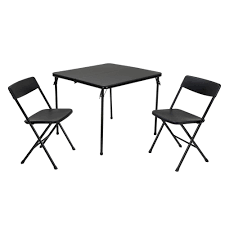 folding chairs and tables. Wonderful Folding Cosco 3Piece Black Folding Table And Chair Set With Chairs And Tables U