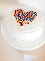 Decorating With Sprinkles How To Make A Diy Sprinkled Heart Cake For Sprinkles Baby Shower