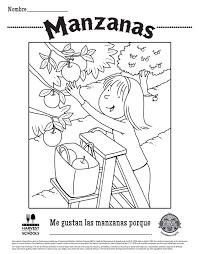 Free Printable Food Hero Apple Coloring Sheet In Spanish
