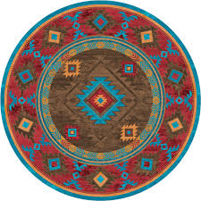 whiskey river turquoise rug 8 ft round