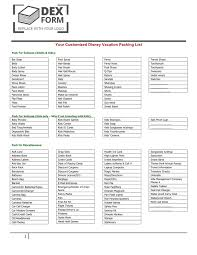 Vacation Packing Checklist Pdf Vacation Packing List In Word And Pdf Formats