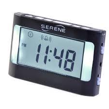 serene innovations va3 vibrating travel clock