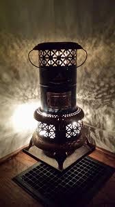 How To Light A Kerosene Heater Antique Kerosene Heater With Lights Added For Vintage Decor