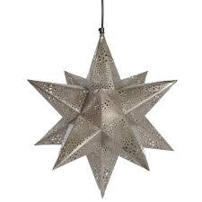 star shaped lighting. Etched Nickel Star Shaped Hanging Pendant Light Lighting F