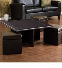 Lovely Coffee Table With Pull Out Storage Ottomans... This Could Be Easy Nice Design