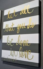 hand lettering bible verse canvas painting canvas wall hanging sign gray striped gold calligraphy typography wall art wall decor home decor on bible verse wall art pinterest with striped bible verse quote canvas painting canvas wall hanging gold