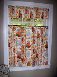 fall kitchen curtains