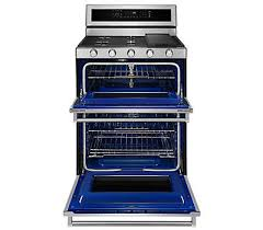 stove with double oven. satinglide® rack stove with double oven
