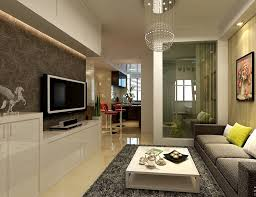 Living Room:Modern Living Room Apartment Design With Unique Small Hanging  Lamp Decorating Idea Modern