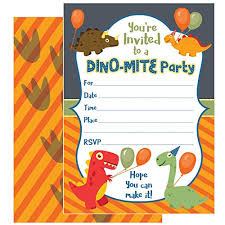 Dinosaur Birthday Invitation Zolco Prints 25 Dinosaur Birthday Invitations With Envelopes