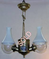 2 burner angle lamp with bluebirds