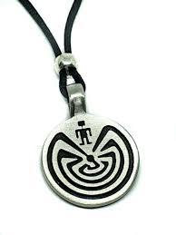 man in the maze life pendant beaded