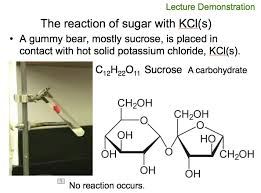 kcl with sucrose no reaction
