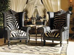 Zebra Living Room Set Double Sconces With Large Cabinet In Between For Dining Room