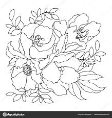 線形の手描き黒と白のベクトル画像塗り絵のテンプレート ストック